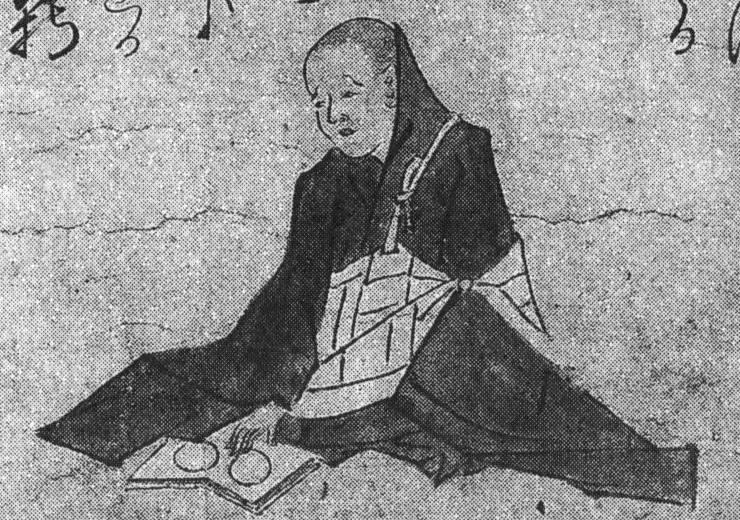 test ツイッターメディア - Buddhist astrologer-monk (宿曜師) examining horoscopes (drawing from 1261). 鶴岡放生会職人歌合絵巻1261年. https://t.co/sGBmmvKOJB
