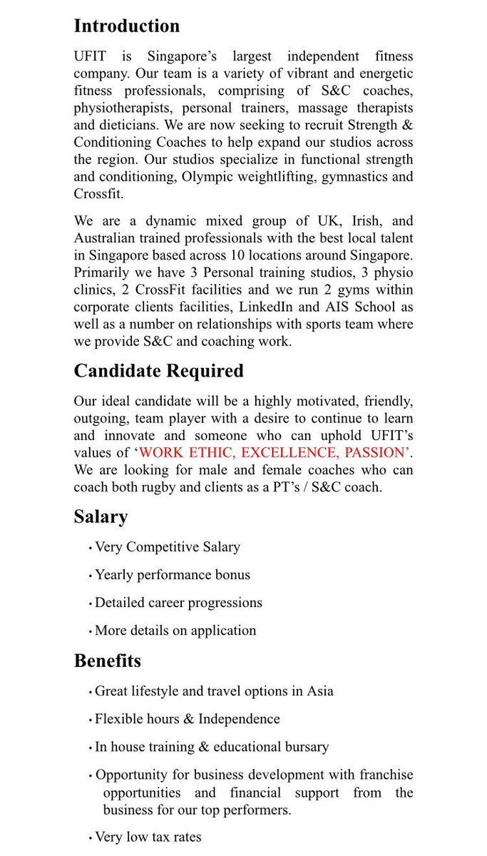 Rugby Coach Cover Letter Rugby Vacancies On Twitter