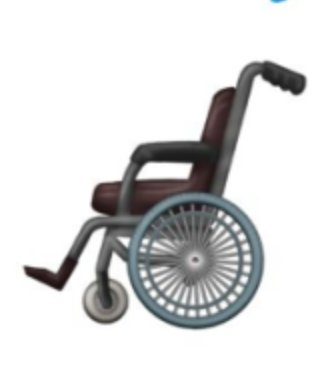 wheelchair emoji swing chair desk g peters s tweet apple new is like a mix of just the handles are bigger than footrests armrests heaviest part frame have they ever seen 9to5mac com 2018 10 23 emo