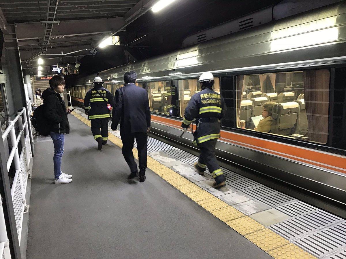 篠ノ井線で人身事故が起きた現場画像