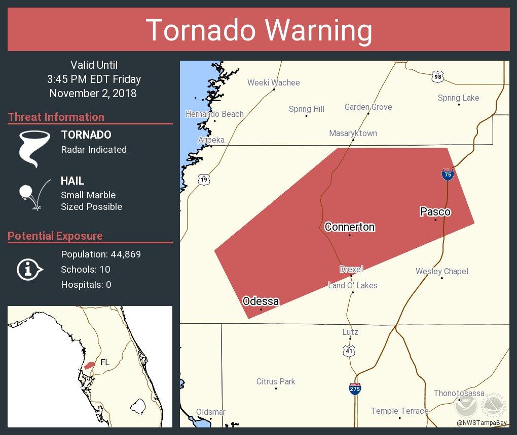 Tornado Warning including Odessa FL Connerton FL Pasco FL ...