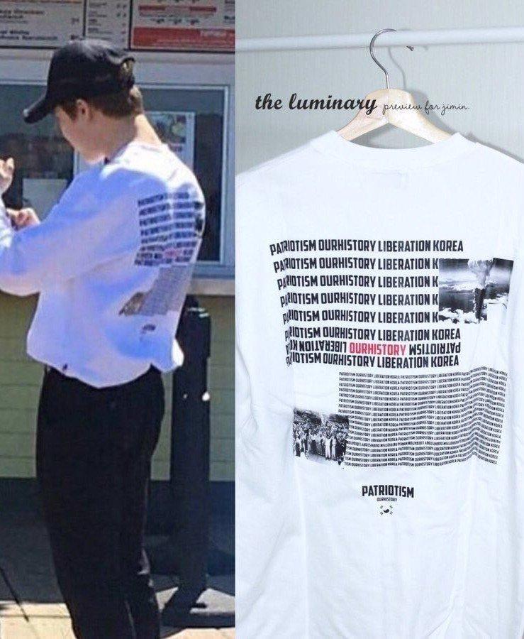 畫像 : 今週のMステに原爆Tシャツを著ていたジミンがいるBTSが ...