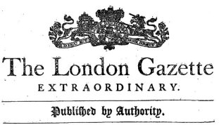 Image result for 1665 – The London Gazette, the oldest surviving journal, is first published