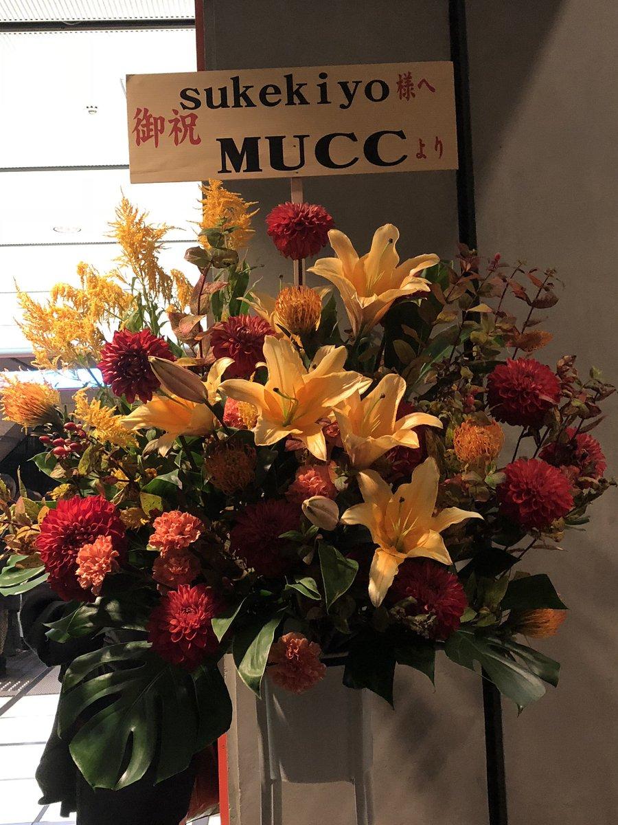 test ツイッターメディア - ポツンとあったMUCCからのお花と、ライブ後に行った中華✨お酒で気持ち悪いのではなく、食べ過ぎて気持ち悪い中央線なう_(:3>∠)_ https://t.co/mh4xBx1RXD