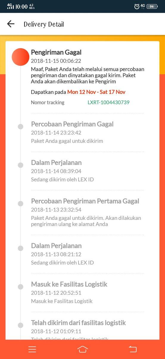 Lex Id Tracking : tracking, Lazada, Twitter:,