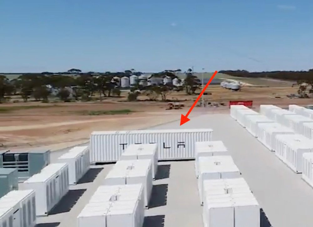 medium resolution of first tesla megapack sighting or just a container housing some equipment