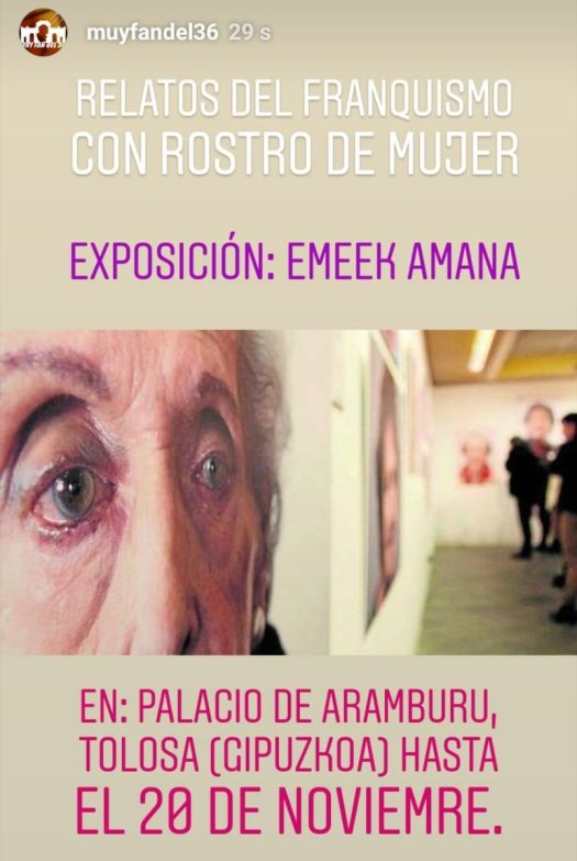 test Twitter Media - Relatos del franquismo con rostro de mujer. Expo: Emeek Amana Hasta el 20Nov.en el palacio de Aramburu (Tolosa) https://t.co/8Sf9p0YSZU
