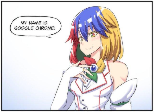 Web browsers as anime girls - Chrome chan