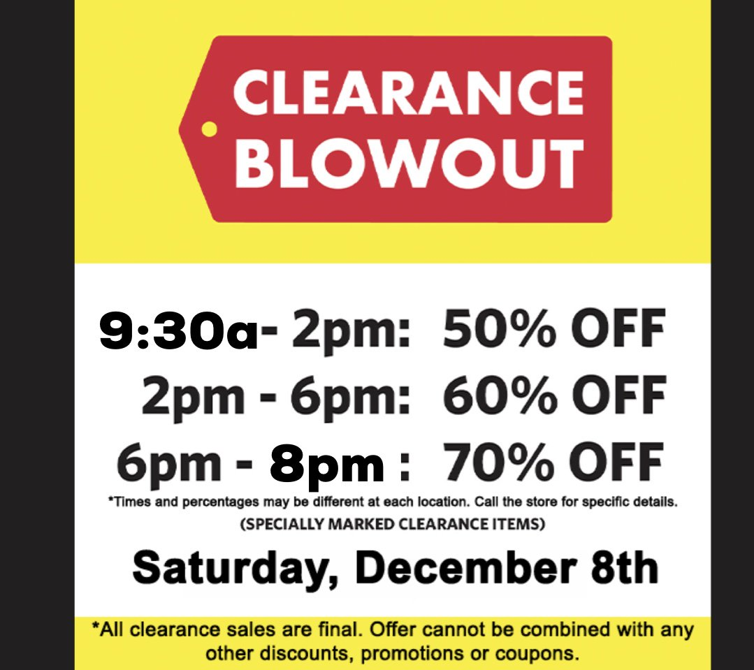 Clearanceblowout Hashtag On Twitter