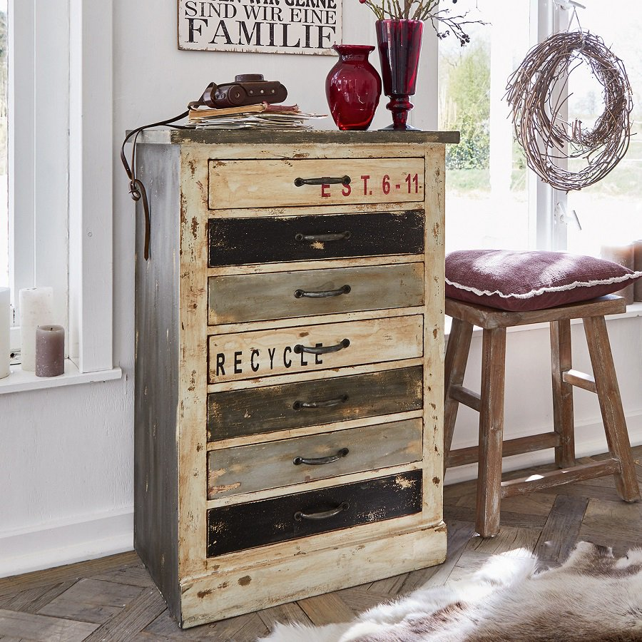 commode tilbury style industriel