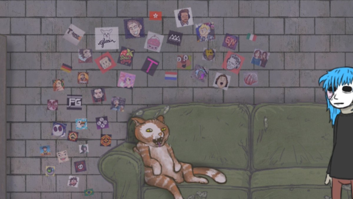 Cute Initial Wallpaper Gloom On Twitter Quot Sally Face Is Life And Sal S Cat Gizmo