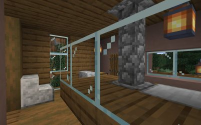 Karan Seraph on Twitter: More of the #Minecraft snowy butcher shop transformed into a modern deli I realize the flat roof isn t the best for actual snowy climates but maybe they have