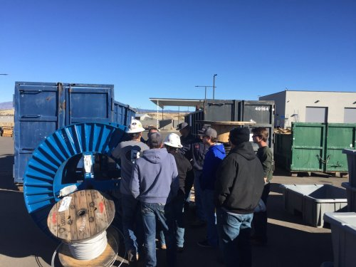 small resolution of aps construction planner brent chambers showed a yavapaicollege electrical trades class what linemen experience every day