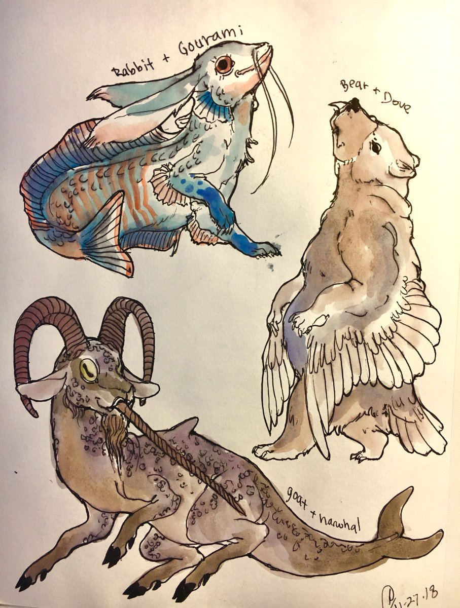 Two Animals Combined Drawing : animals, combined, drawing, Toldentops, Commissions, Closed, Twitter:, Recently,, Asked, Instagram, Animals, Combine, Them!, Drawing, Painting, About, Week,, Pretty, Happy