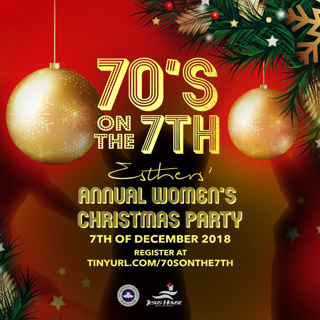 Jesus House On Twitter Ladies It S Not Too Late To Register For The Esthers Annual Christmas Party Get Ready For Awesome Night Of Fun Food And Fellowship It S Going To Be An