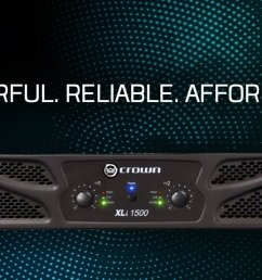 continuing crown s standard of excellence the xli 1500 two channel amplifier offers impressive power [ 1200 x 656 Pixel ]