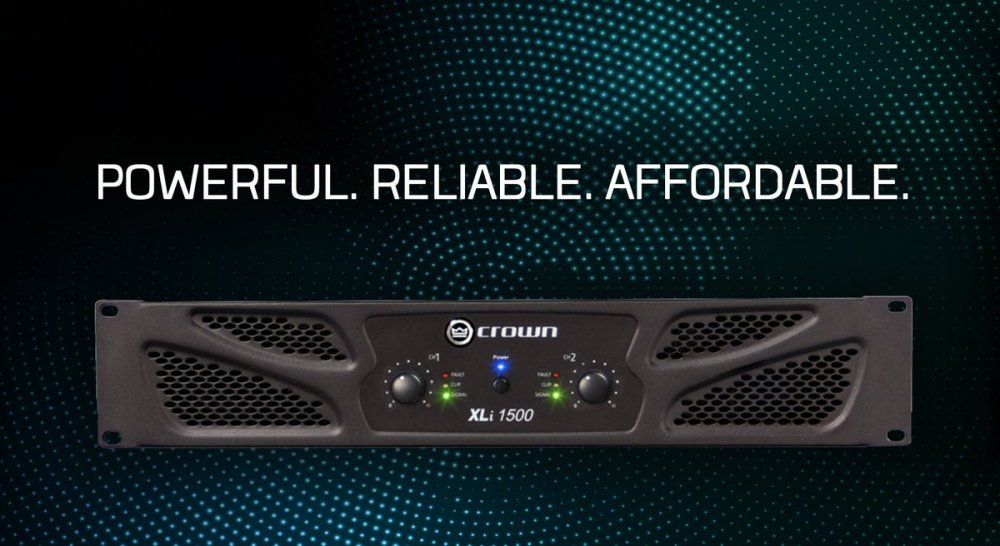 medium resolution of continuing crown s standard of excellence the xli 1500 two channel amplifier offers impressive power