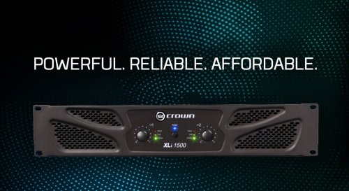 small resolution of continuing crown s standard of excellence the xli 1500 two channel amplifier offers impressive power