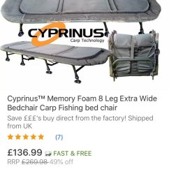 Fishing Chair Bed Reviews Bradley Club Bedchair Photos Anyone Know Anything On This Good Etc Carp