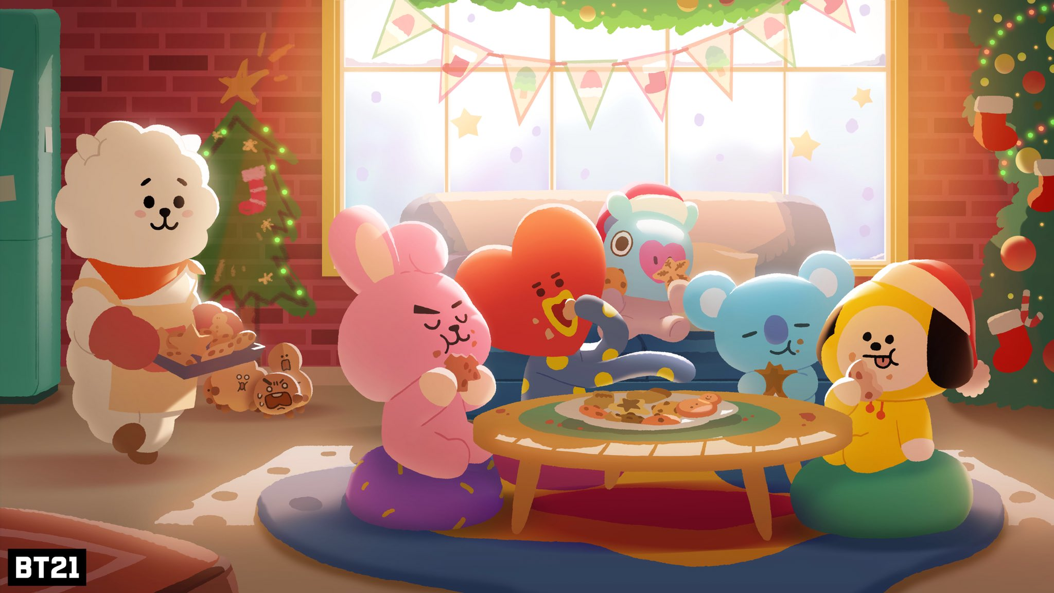 Large Hd Wallpapers For Laptop Bt21 On Twitter Quot It S Cookie Time🍪 Not Shooky Time