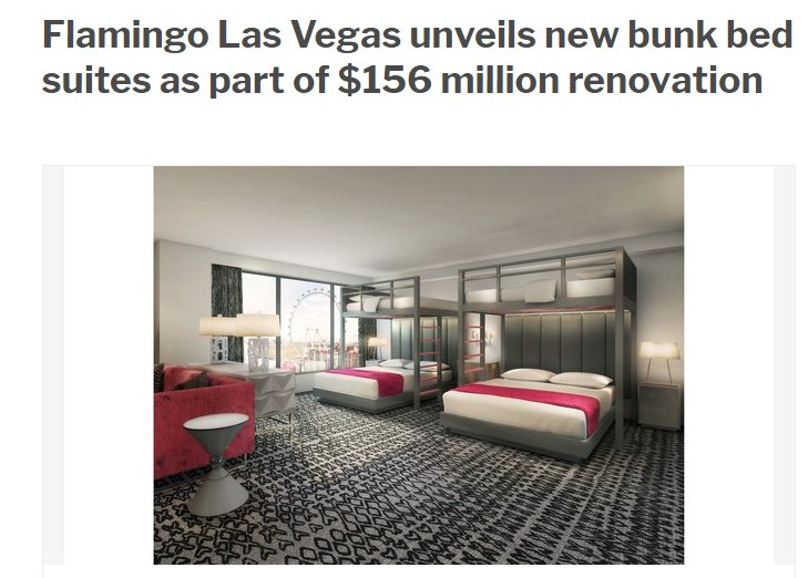 the flamingo hotel unveils new bunk bed