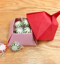 how about an origami box filled with candy the directions for this one are in the book tomoko fuse s origami boxes  [ 1200 x 900 Pixel ]