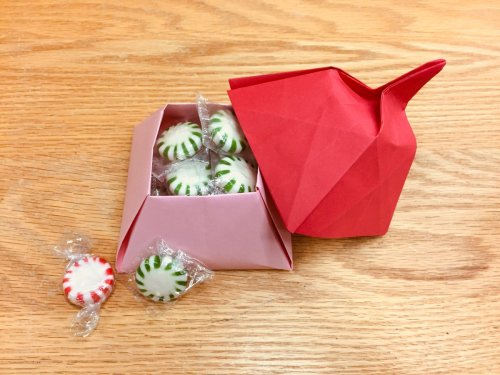 small resolution of how about an origami box filled with candy the directions for this one are in the book tomoko fuse s origami boxes