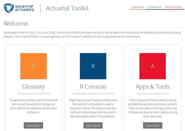 The Actuarial Toolkit Has A Glossary Of Terms An R Console For Comtions Crowdsourced List Applications