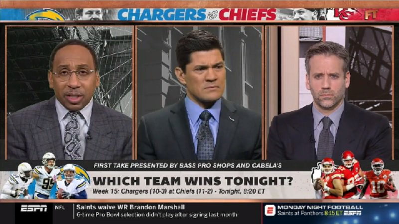 Stephen A, Stephen A. Smith Has No Idea Who's Playing For The Chargers or Chiefs Tonight