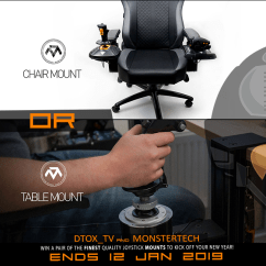 Office Chair Joystick Mount Curved Back Adirondack Chairs Dtox On Twitter This Christmas Tv Has Joined Forces With There Are Multiple Ways To Enter And Increase Your Chance Win A Mnstrtech Or Table Set Here Https Bit Ly 2qwb2qw Pic Com