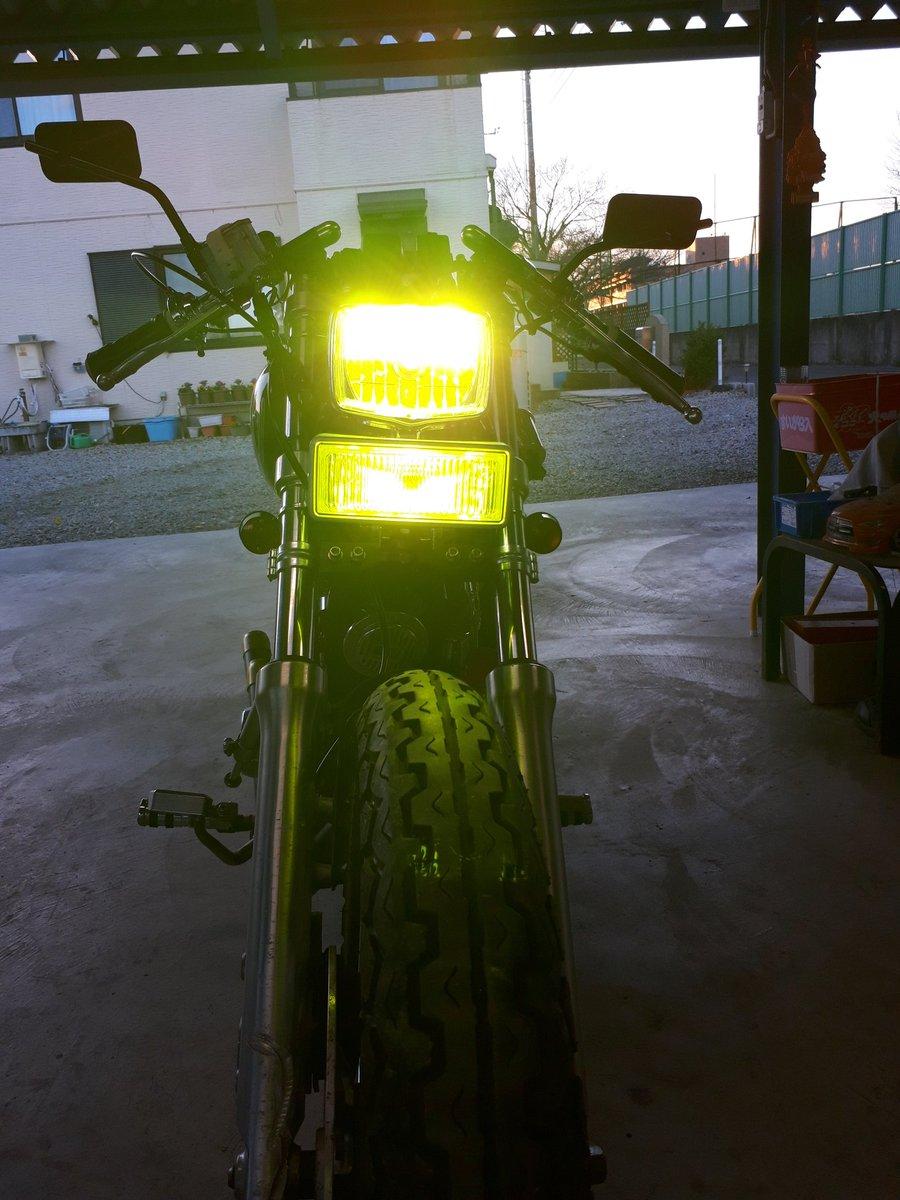 test ツイッターメディア - 今日のヒッツガレージ‼️  ビラーゴカスタム。  ヘッドライト&フォグランプを、丸型から四角へ  ソロシートにスプリングも付けた(-.-)y-~ https://t.co/CWpbHXUIEv