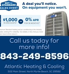 call us today and find out how you can save during the as hvac american standard heating air conditioning s set the standard sales event before it  [ 1200 x 1200 Pixel ]