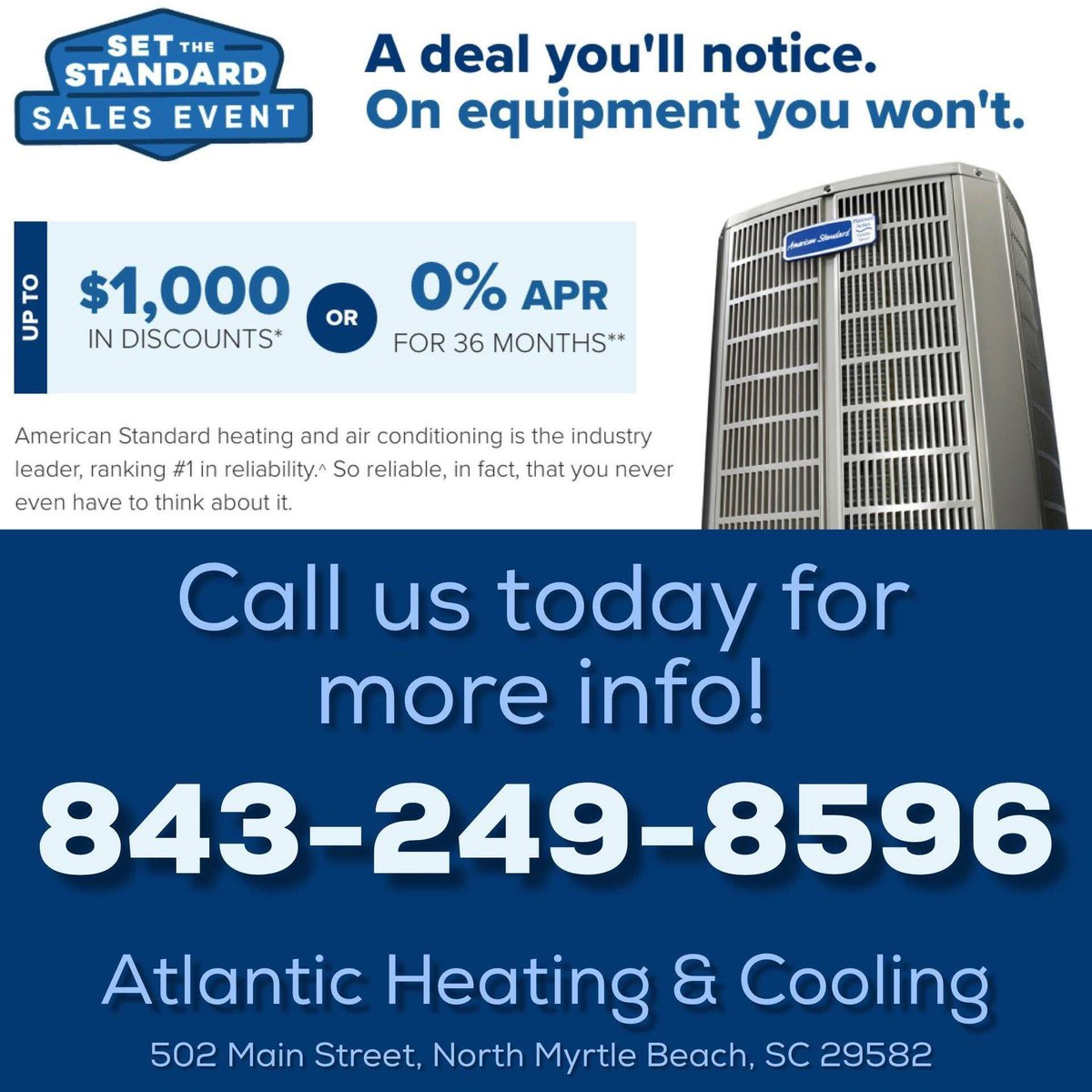 hight resolution of call us today and find out how you can save during the as hvac american standard heating air conditioning s set the standard sales event before it