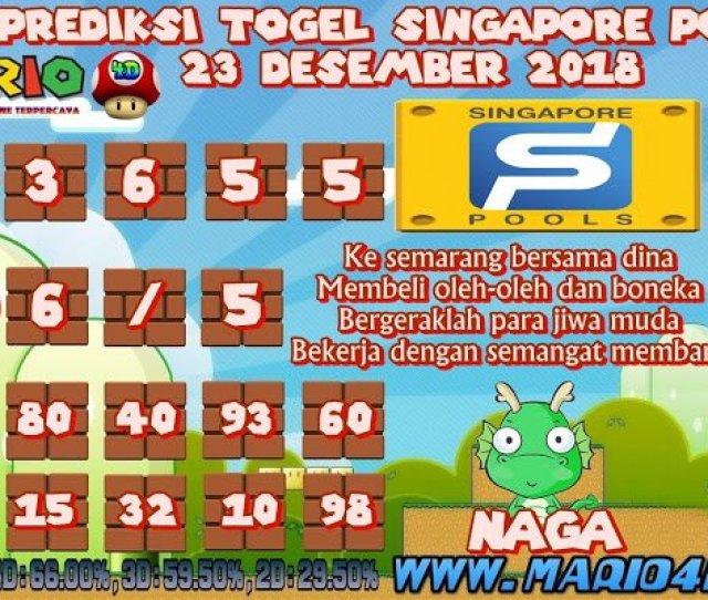 Mariod On Twitter Prediksi Togel Singapore Pools  Desember