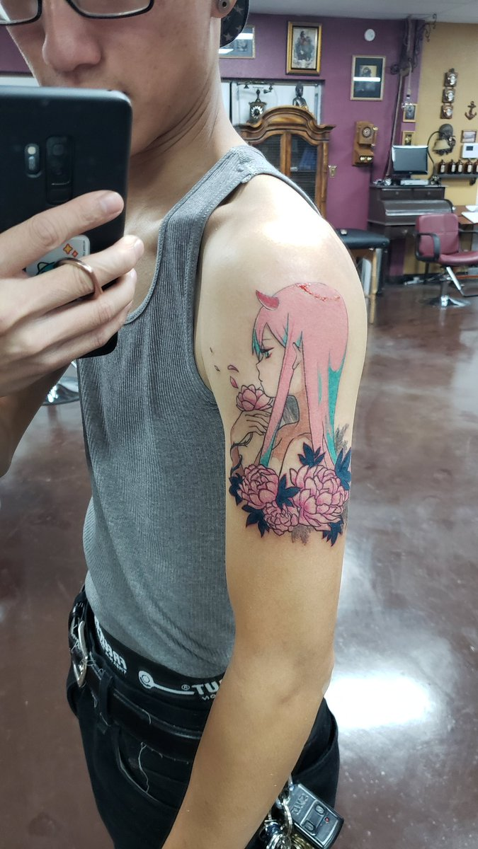 Jeff Yuan On Twitter Got A Tattoo Of Zero Two Thanks At Satchely