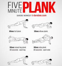 workout of the day five minute plank https darebee com workouts five minute plank workout html darebee wod abs core workout workouts  [ 848 x 1200 Pixel ]