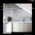 Cretesol Stone Tile On Twitter Crisp And Clean Splash Back Complimented With Greek Thassos Marble Countertop This Kitchen Embodies Contemporary Design Bianco Carrara Marble Crystal Thassos White Cretesolstones Contemporarykitchen