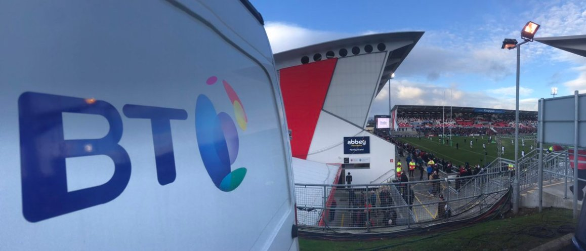 test Twitter Media - In a blustery @KingspanStadium for the @UlsterRugby v @racing92 clash live on @btsportrugby https://t.co/rB88HZG9j6