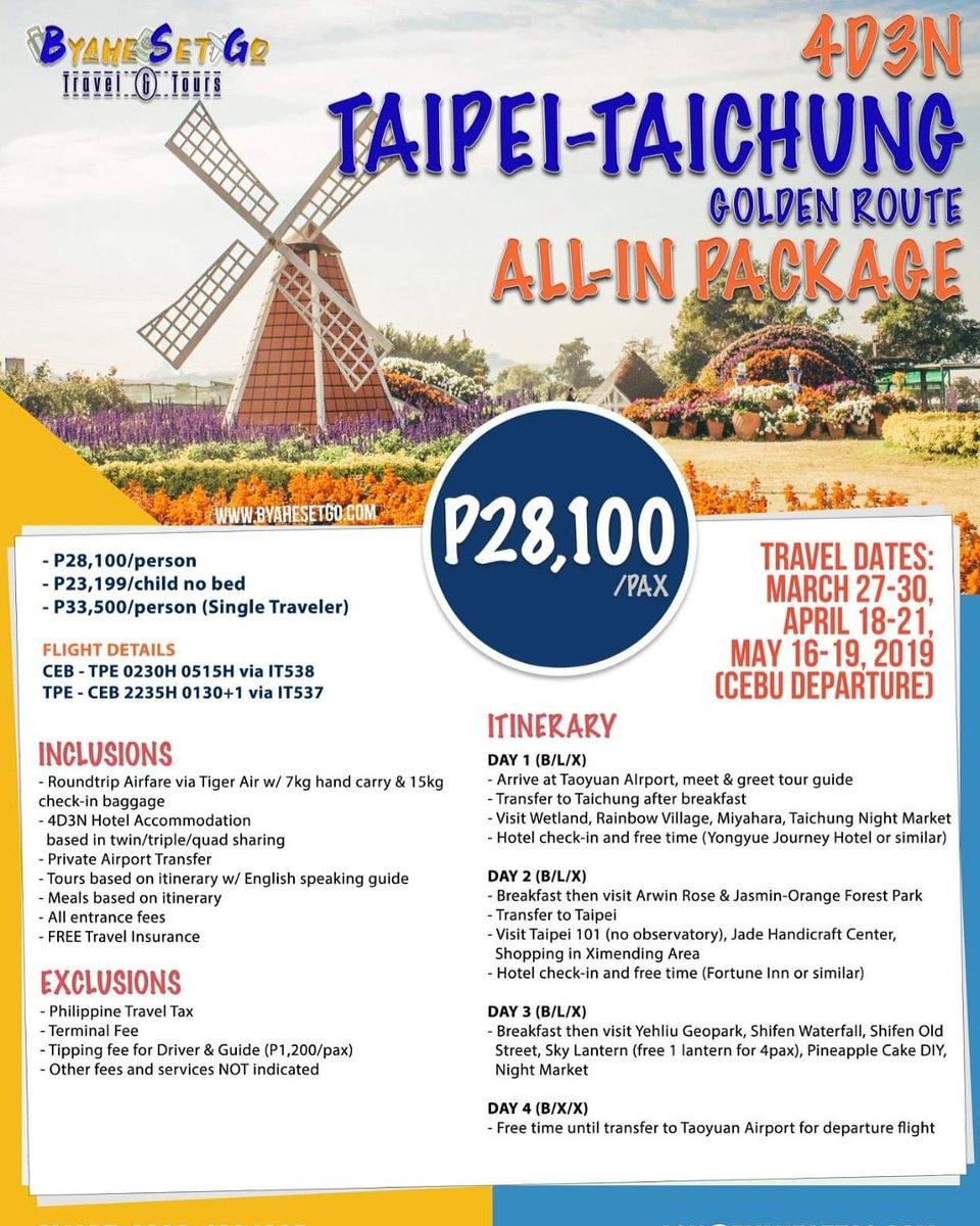 Byahe Set Go Travel Tours On Twitter Taipei Taichung