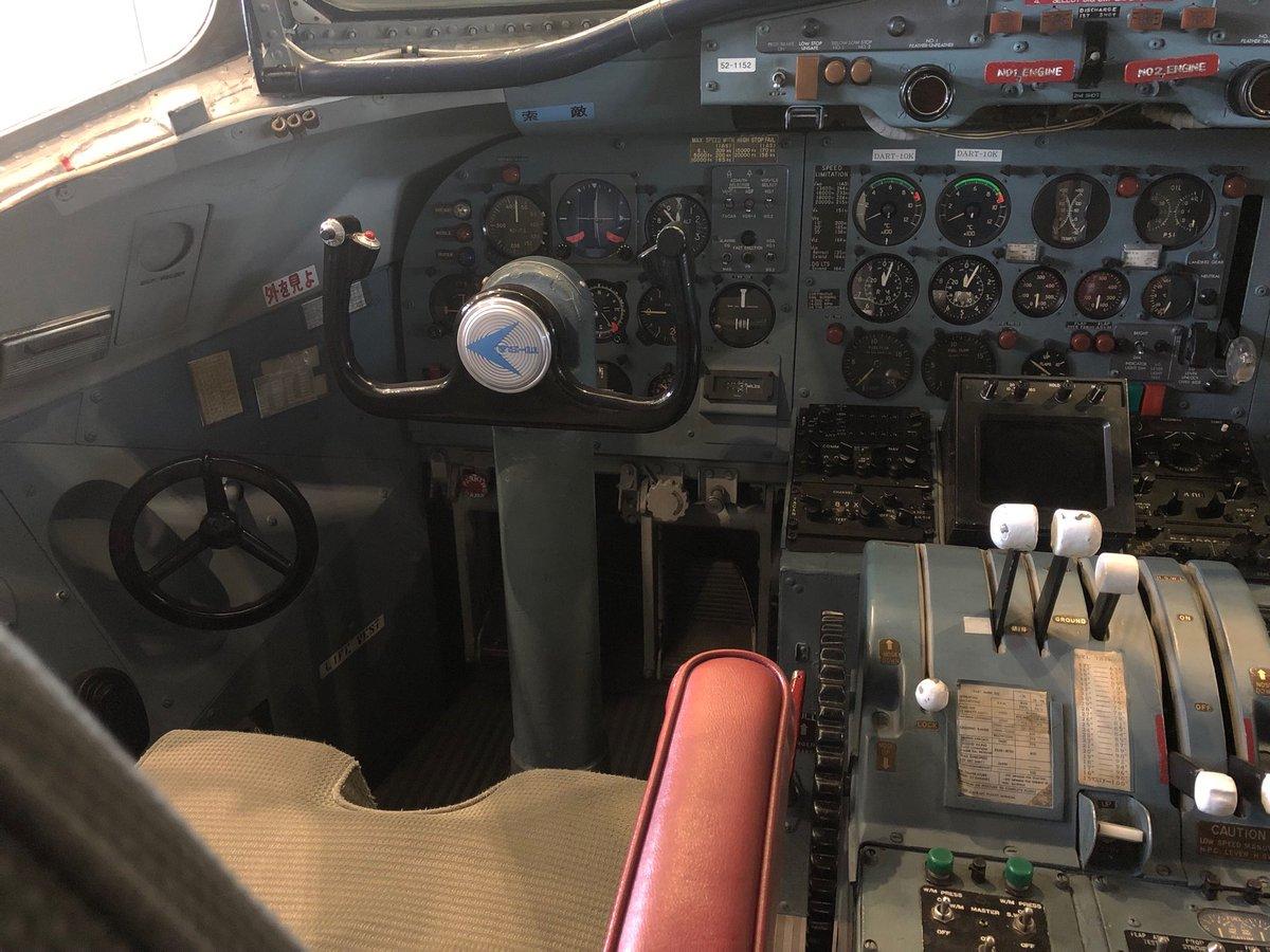 test ツイッターメディア - YS-11のコックピット、これは機長席。今日あいち航空ミュージアムで、戦中は学徒動員で飛燕を作り、戦後は三菱でYS-11を作っていたと言う方とお話ができました。他にもいろんな方とお会いできた一日でした。楽しかった😊嬉しかった🤗幸せだった😁 https://t.co/sx63nV4Bwq