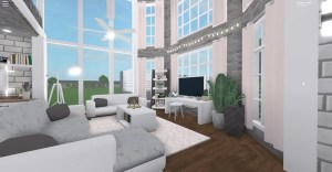 aesthetic bloxburg roblox mansion bedroom rose largest extras rosegold