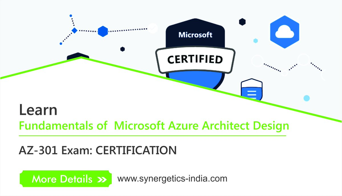 hight resolution of  synergeticslearning know more http www synergetics india com course az301 microsoft azure architect design training pic twitter com ckxhpy8rno