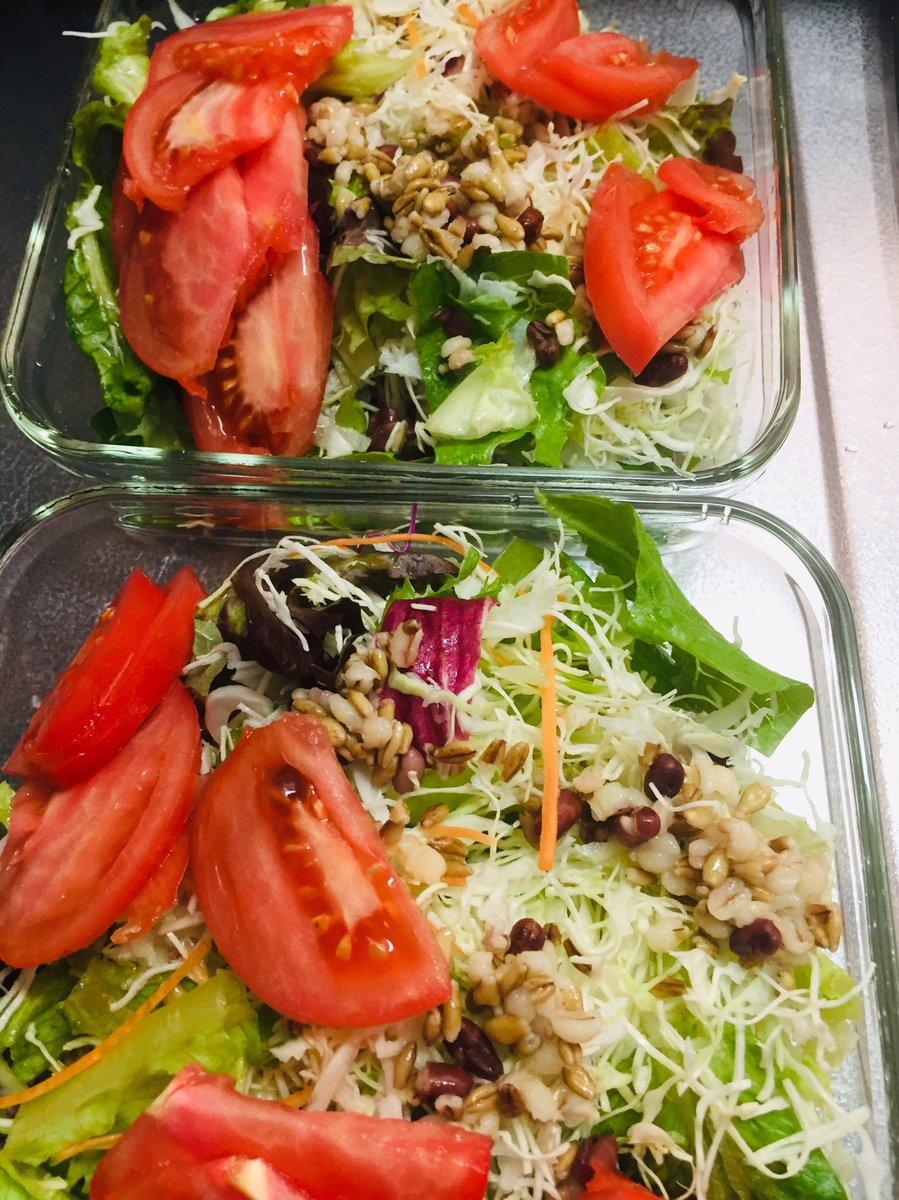 test ツイッターメディア - 💖Nori's kitchen 今日の作り置き ☆レンコンと里芋のサラダ ☆スーパー大麦の野菜サラダ https://t.co/ztaHmMc1do