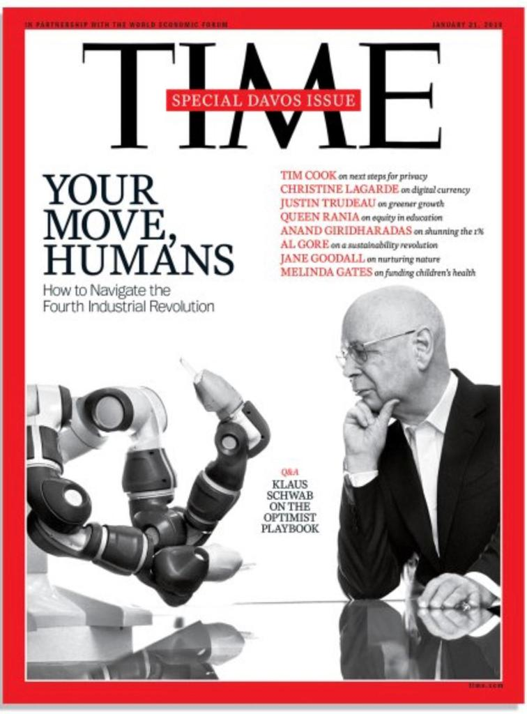 "ABB on Twitter: ""We are very proud to have our collaborative #YuMiRobot on the cover of @TIME magazine's special #WEF19 edition demonstrating how humans and robots work side-by-side without barriers. Special print"