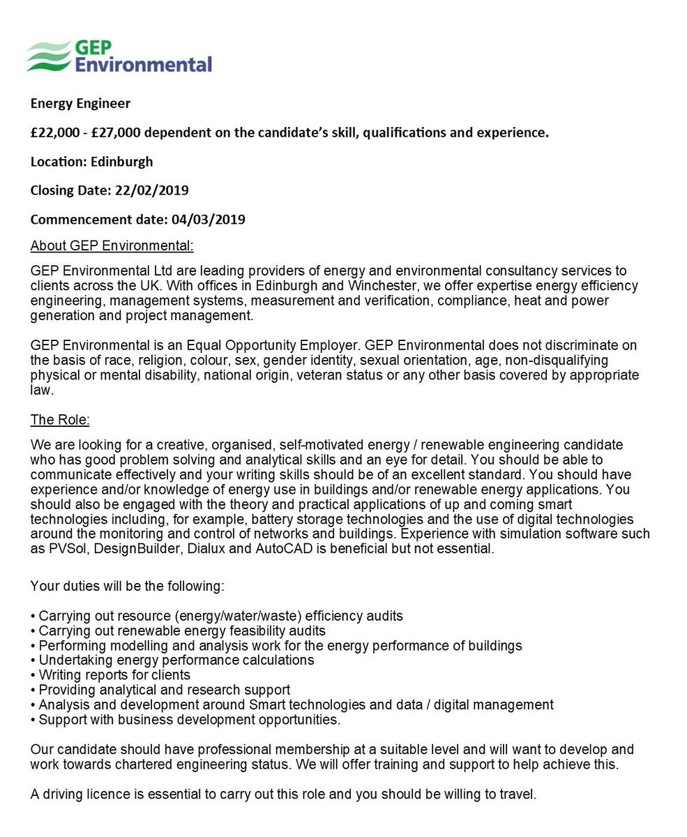 Charted Electrical Engineer Cover Letter Gep Environmental Gepenv Twitter