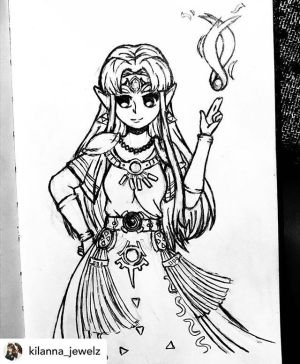 draw zelda simple even why eyes mighty royal posted legend jewelz cant drawing easy drawings princess sketch