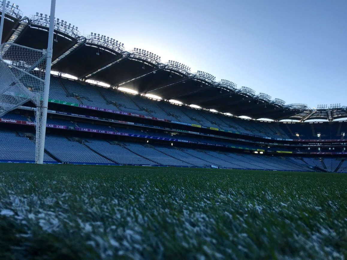 test Twitter Media - Early frosty start this morning in @CrokePark for our first game in headquarters this season for @eirSport. On air at 4.30pm for the @LadiesFootball clash of @dublinladiesg v @DonegalLGFA then the 7pm throw in of @DubGAAOfficial v @Galway_GAA https://t.co/GfzRNS0av1
