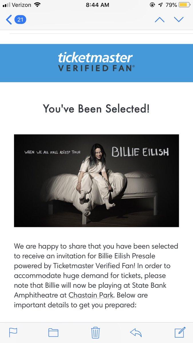Verified Fan Ticketmaster Billie Eilish : verified, ticketmaster, billie, eilish, ♍️🌸, (@mollspams), Twitter