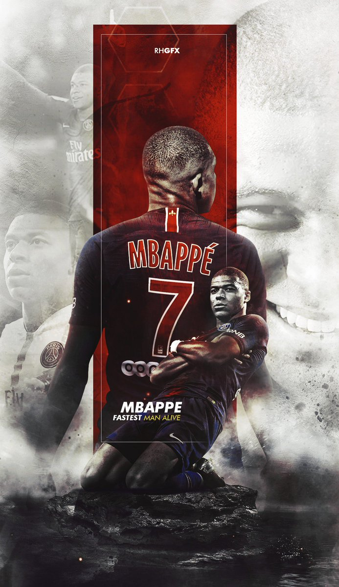 wallpaper psg mbappe