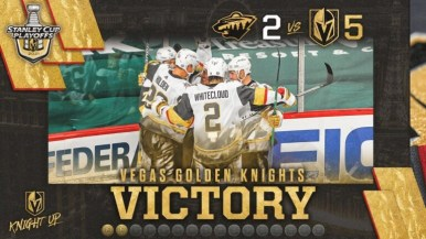 """FranchiseSportsMedia on Twitter: """"FSM's DJ Wood recaps Golden Knights vs Wild in game 3 game of the #NHLPlayoffs. Get the latest #VGK news https://t.co/IeJlxgdHI8. #VegasBorn came back from being down 2-0 to"""